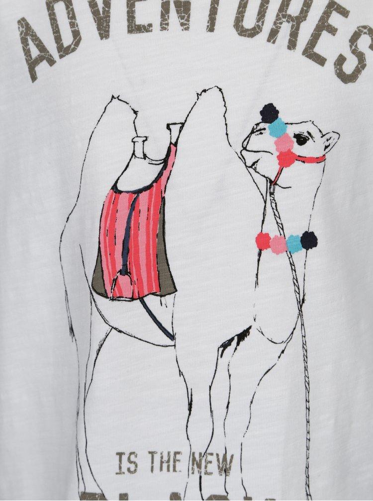 Bílé holčičí tričko s potiskem velblouda name it Katly