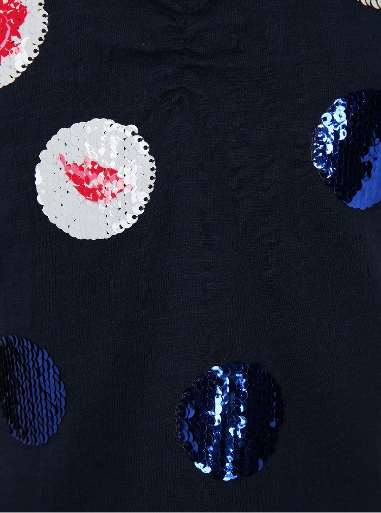 Tmavě modré holčičí tričko s magickými flitry Lego Wear Tanya