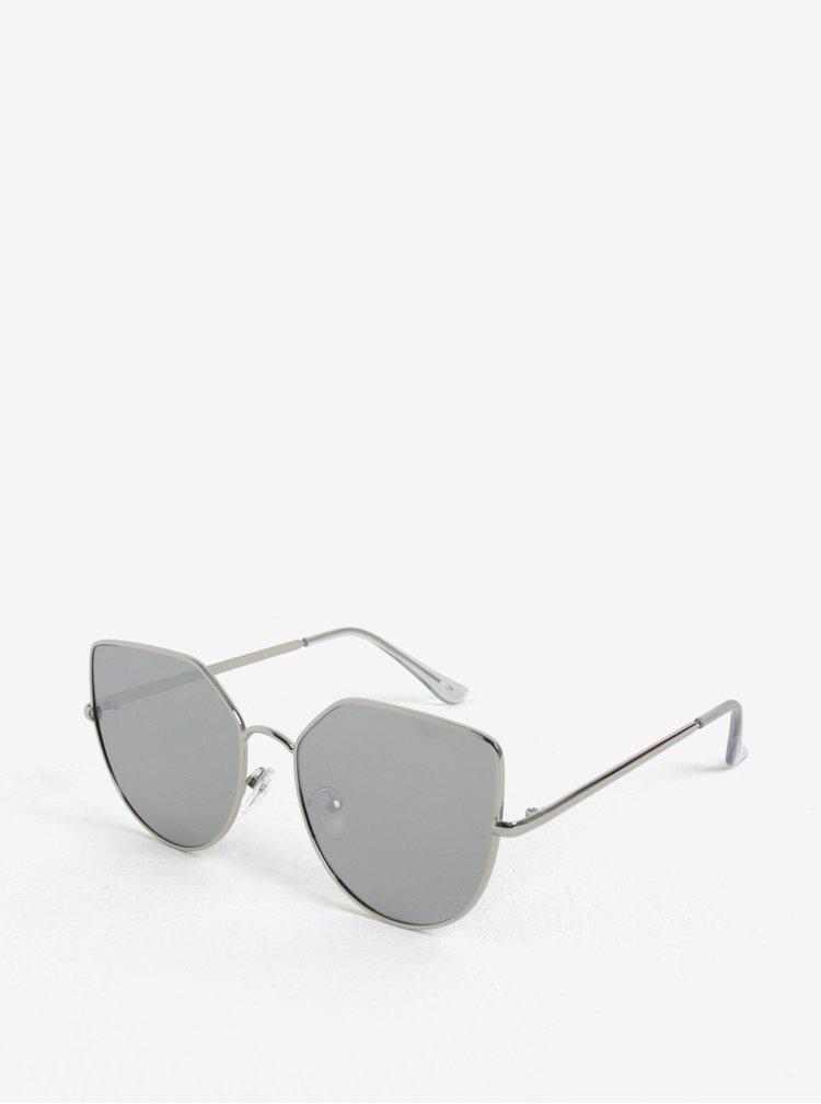 Dámské hranaté sluneční brýle ve stříbrné barvě Jeepers Peepers