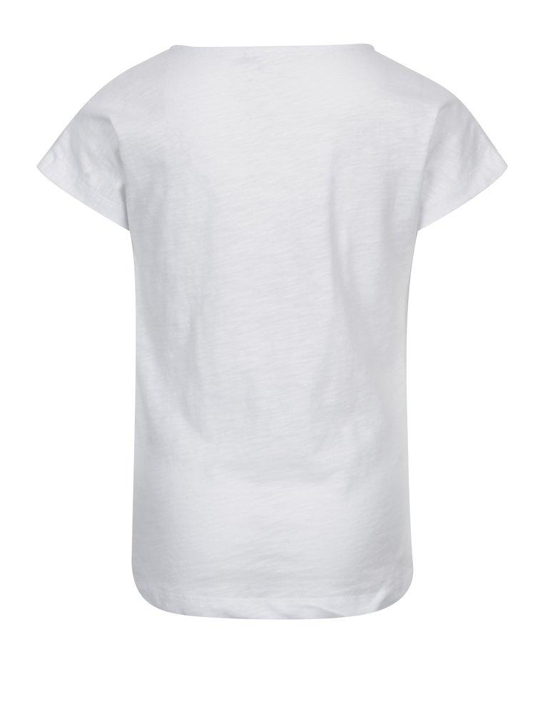 Bílé holčičí tričko s výšivkou name it Karla