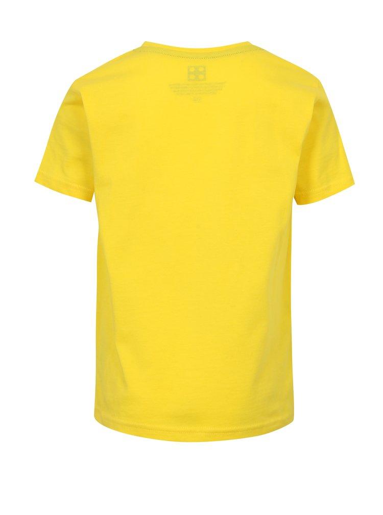 Žluté klučičí tričko s potiskem Lego Wear
