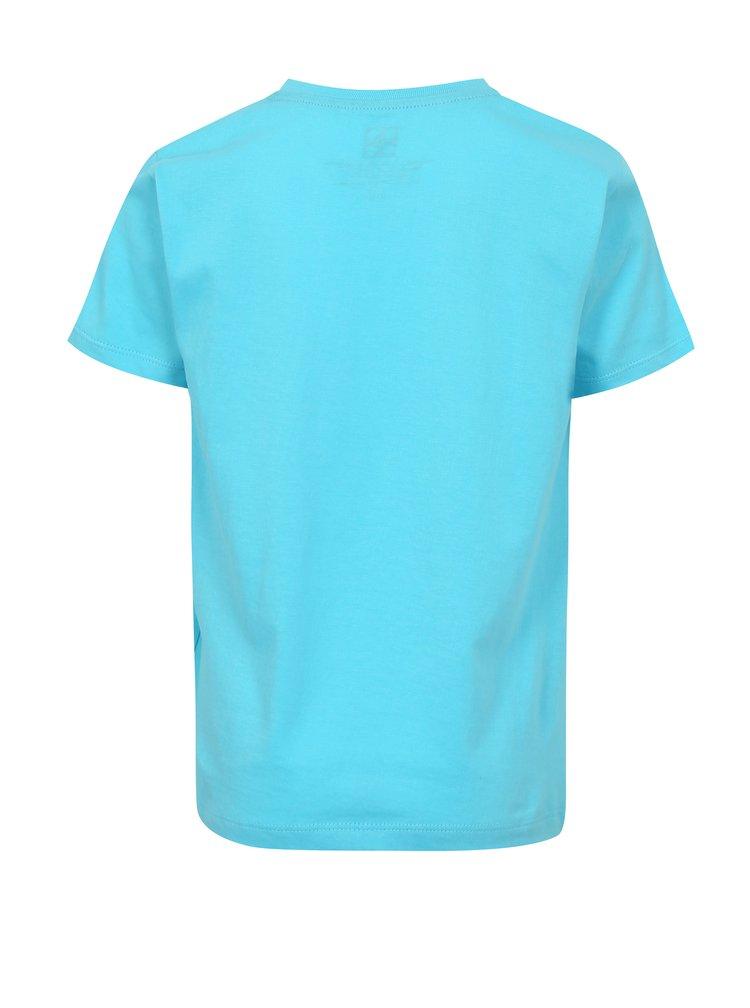 Modré chlapčenské tričko s potlačou a nápisom Lego Wear