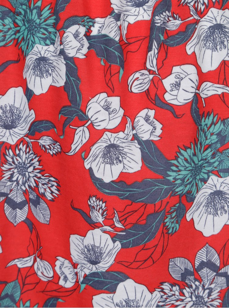 Červené květované holčičí tílko name it Veronica