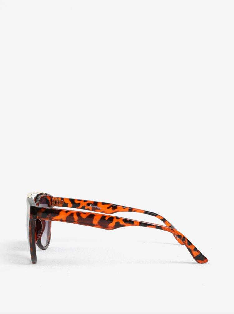 Hnědé dámské sluneční brýle se zvířecím vzorem Jeepers Peepers