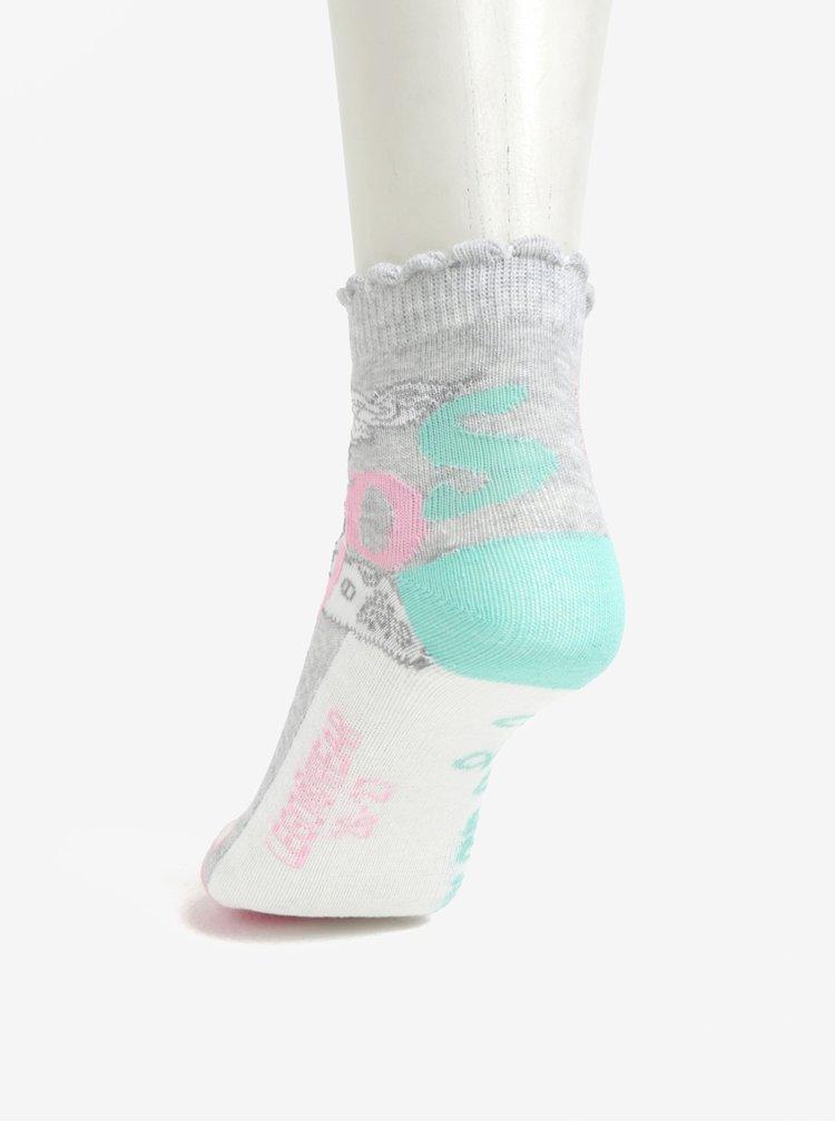 Růžovo-bílá sada tří párů holčičích vzorovaných ponožek Lego Wear Agata