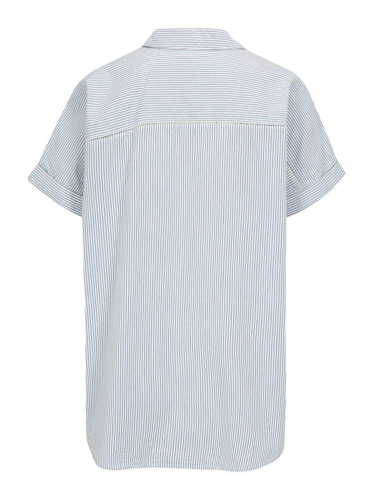 Modro-krémová pruhovaná košile s výšivkou Scotch & Soda