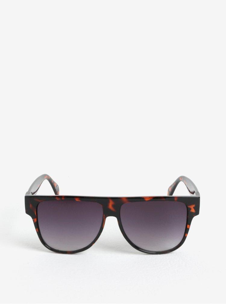 Černo-hnědé dámské vzorované sluneční brýle Jeepers Peepers