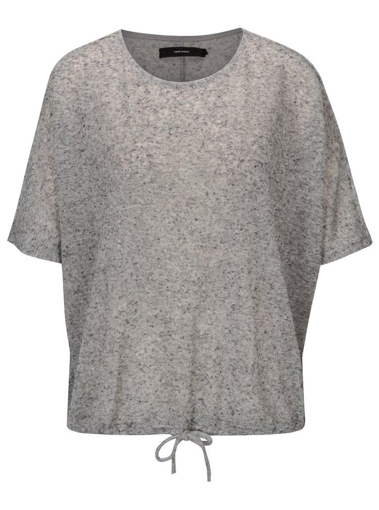 Šedé žíhané tričko VERO MODA Pia