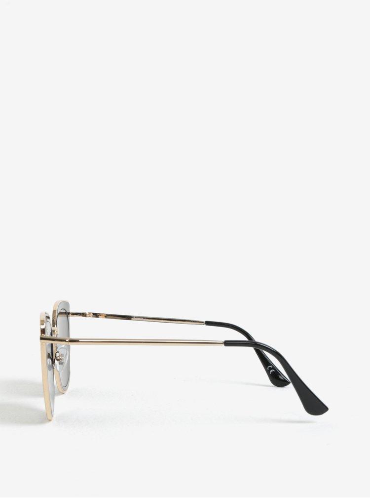 Černé dámské sluneční brýle s detaily ve zlaté barvě Jeepers Peepers
