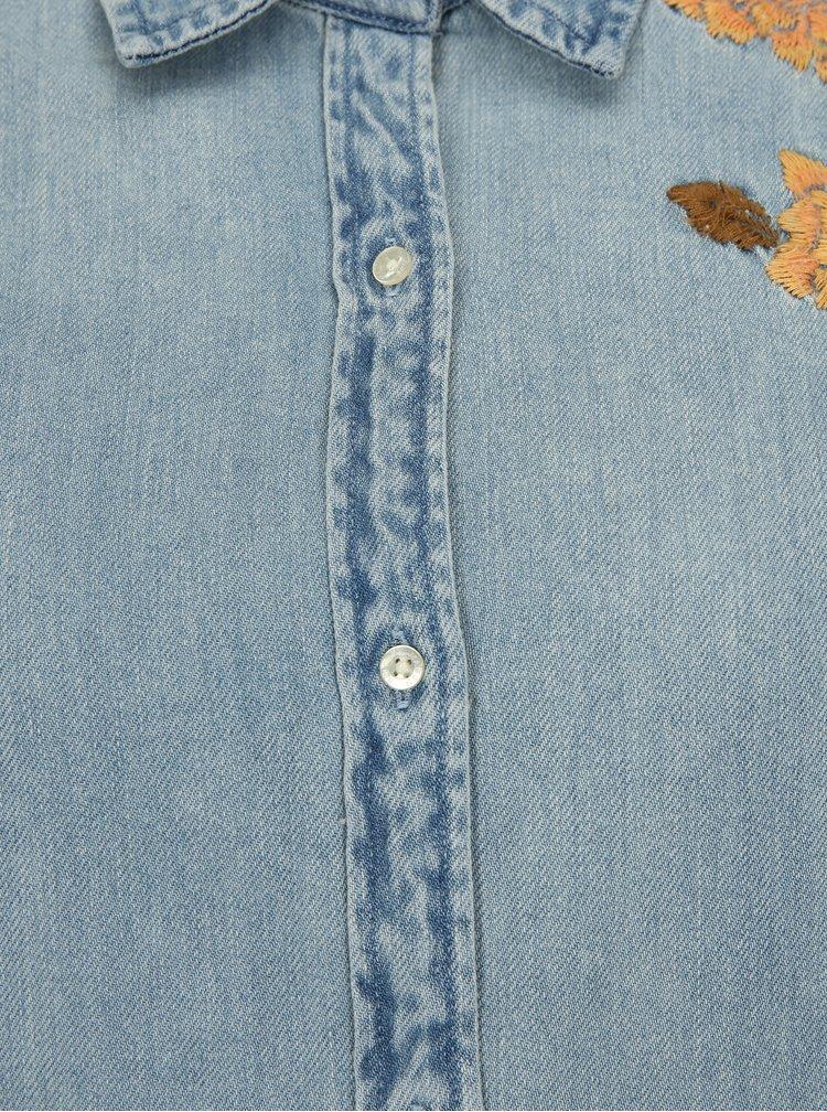 Modrá džínová košile s výšivkou Scotch & Soda