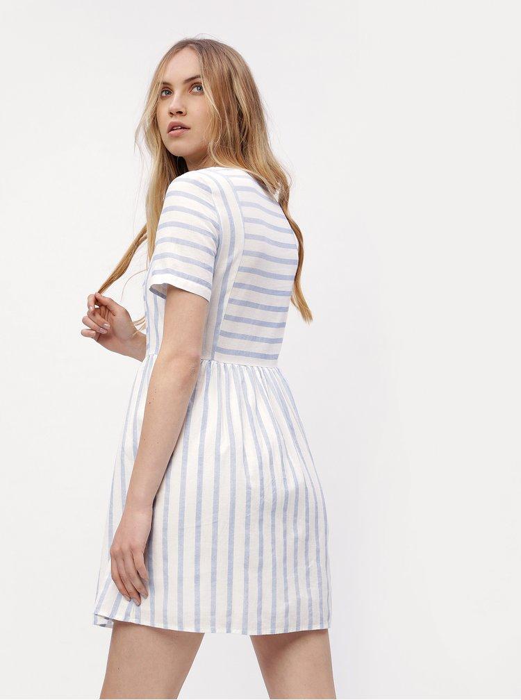 Bílo-modré pruhované šaty VERO MODA Sunny