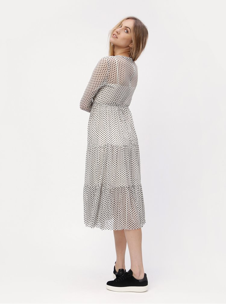 Bílé puntíkované šaty VERO MODA Sofie