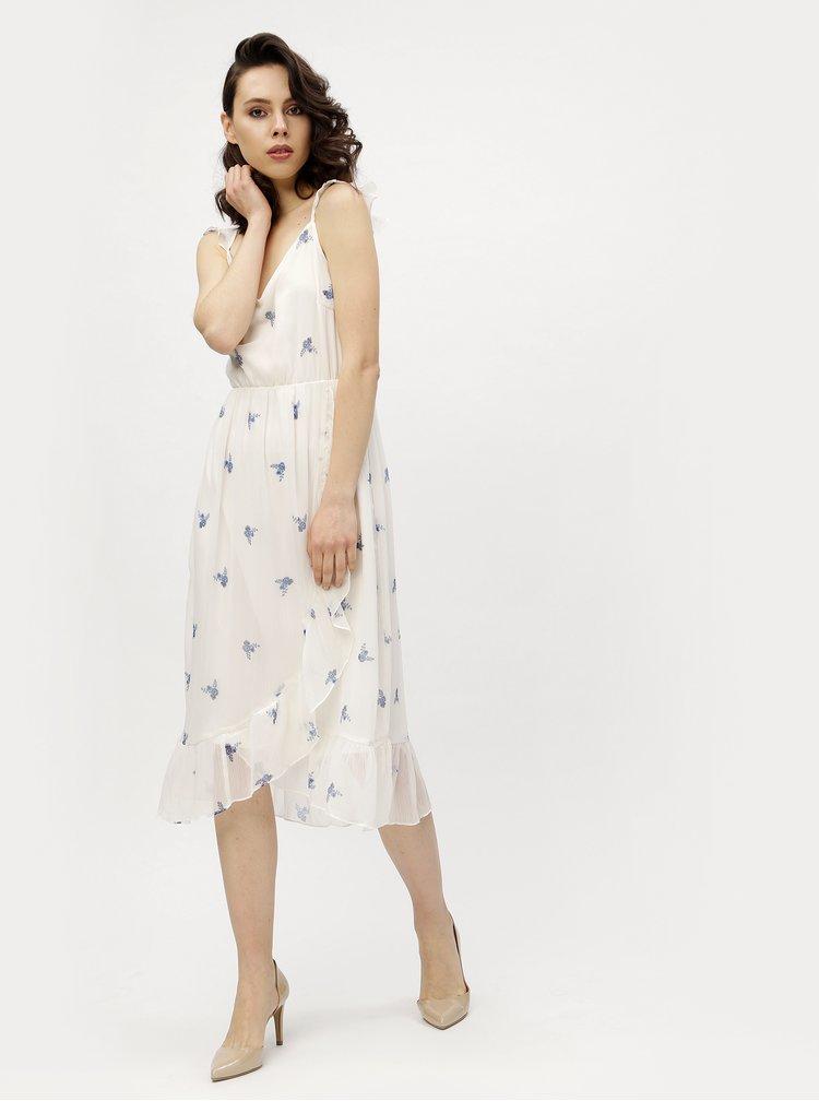 Bílé květované šaty VERO MODA Danni