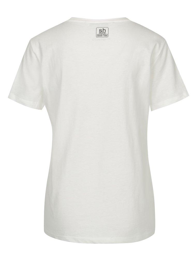 Tricou alb cu print cu inspiratie pop art - SH Caririacu