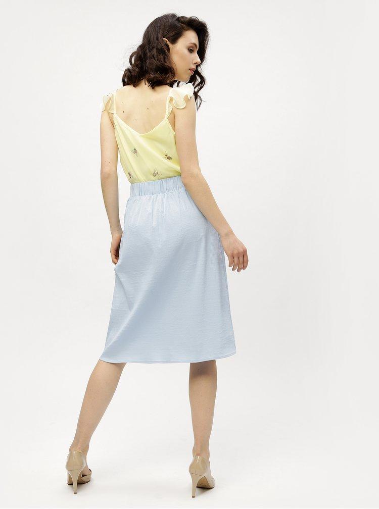 Modrá žebrovaná sukně VERO MODA Sia