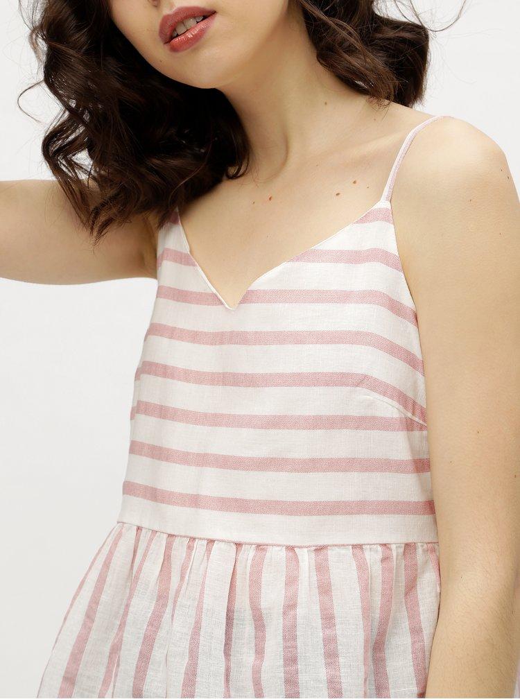 Bílo-růžové pruhované tílko VERO MODA Sunny