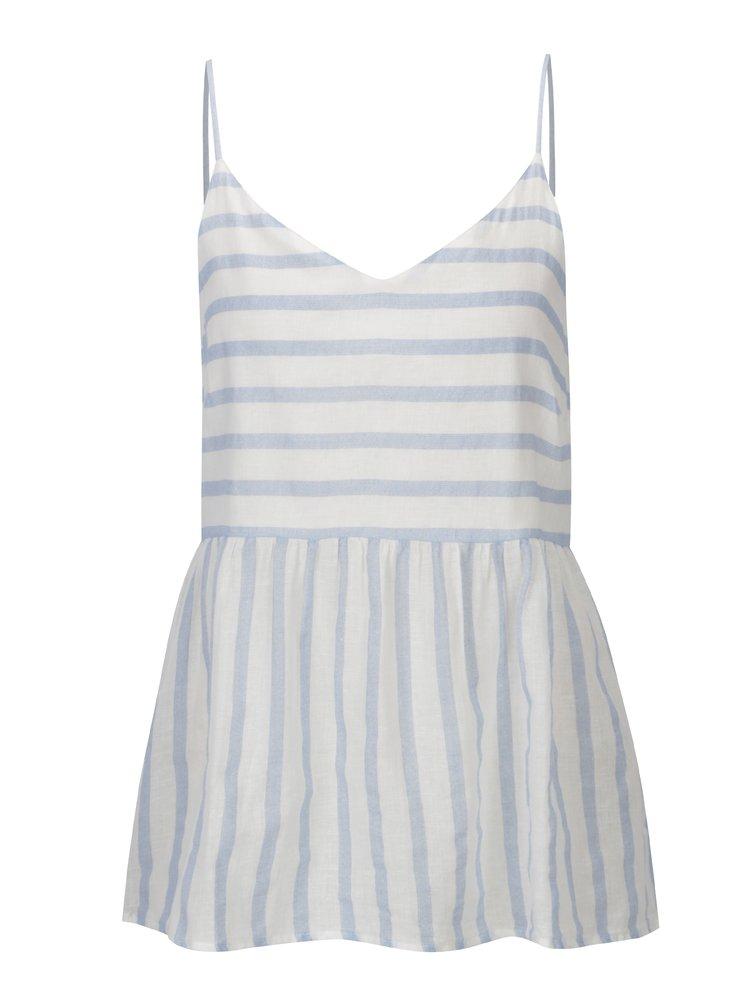 Bílo-modré pruhované tílko VERO MODA Sunny