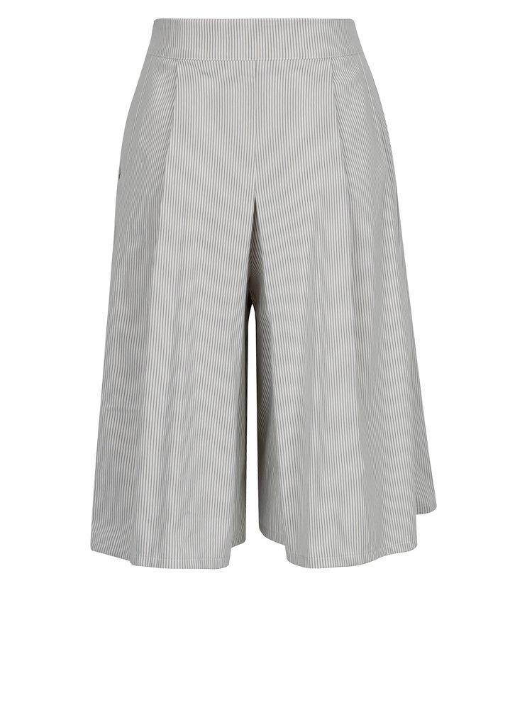 Bílo-šedé pruhované culottes SEVERANKA
