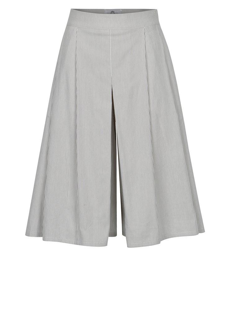 Pantaloni culottes 3/4 cu dungi SEVERANKA