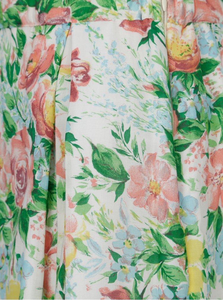 Zelená květovaná sukně SEVERANKA
