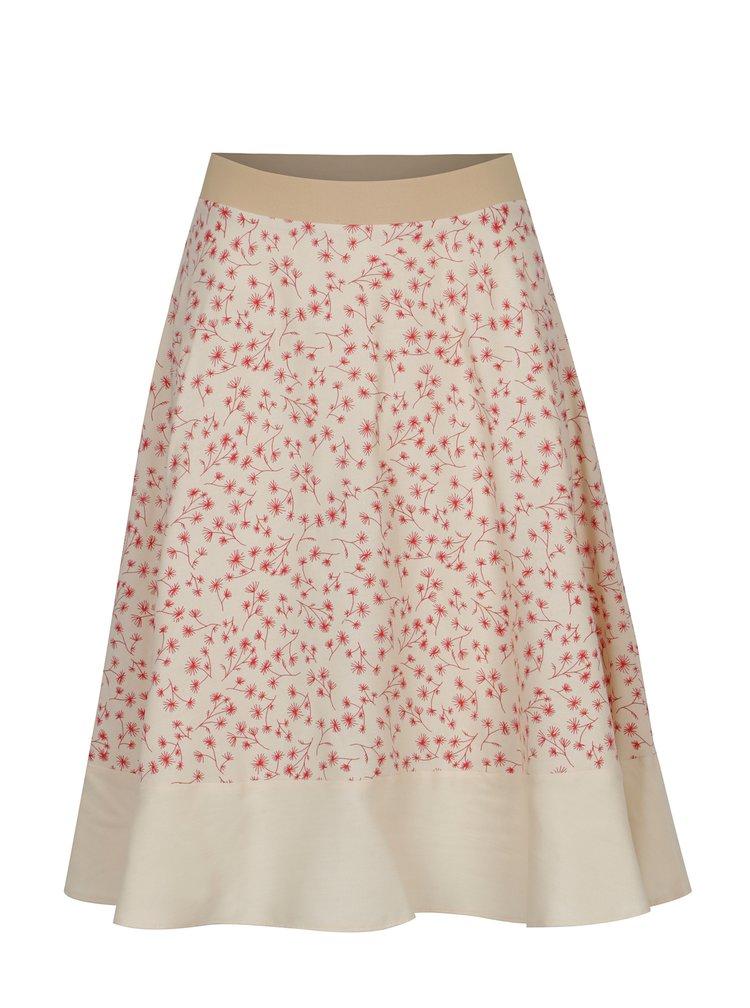 Béžová vzorovaná sukně SEVERANKA