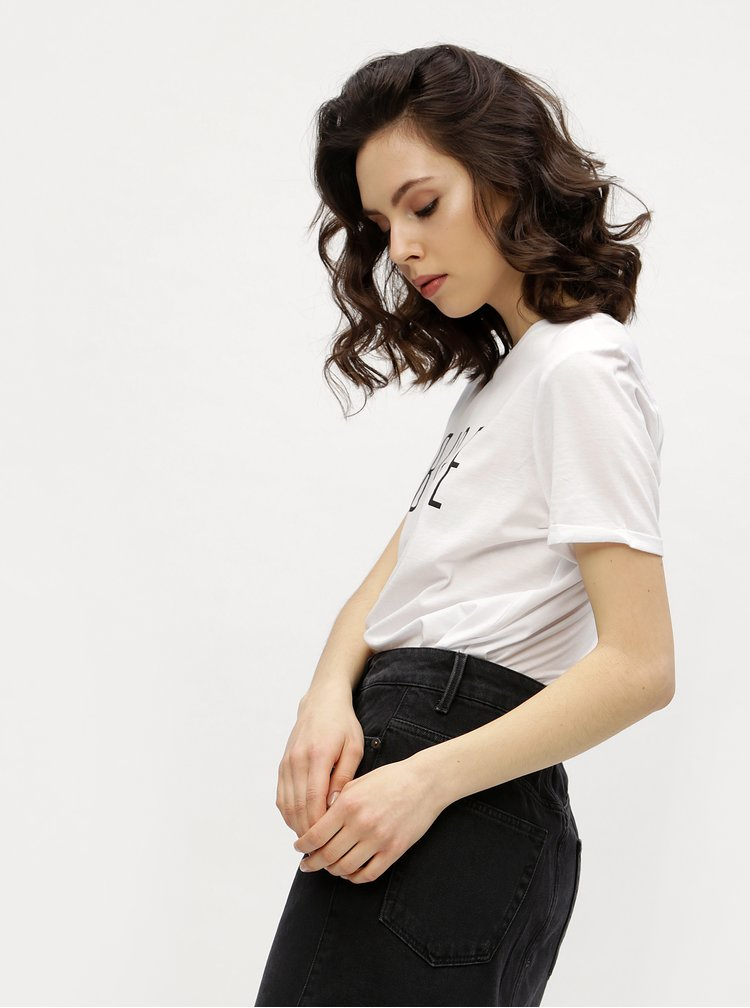 Biele tričko s potlačou VERO MODA Devrim