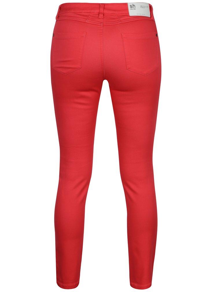 Tmavě růžové slim kalhoty s nízkým pasem SH Guaruja