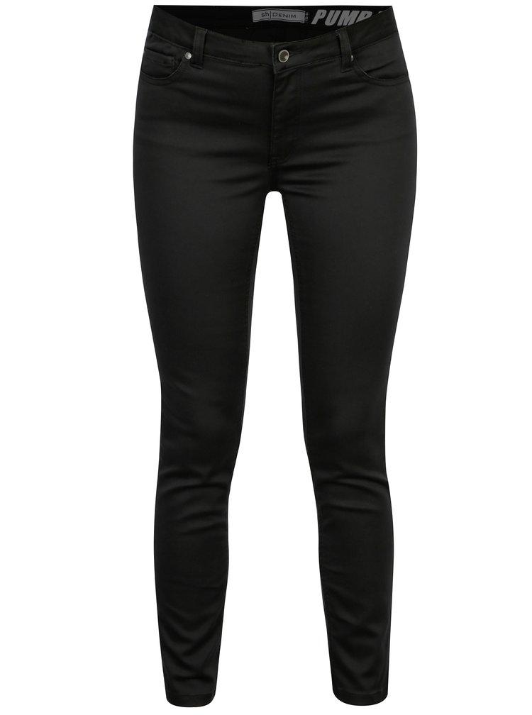 Černé slim kalhoty s nízkým pasem SH Guaruja