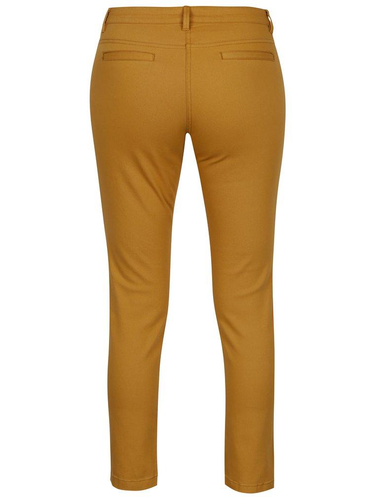 Oranžové zkrácené skinny džíny s nízkým pasem SH Ventania