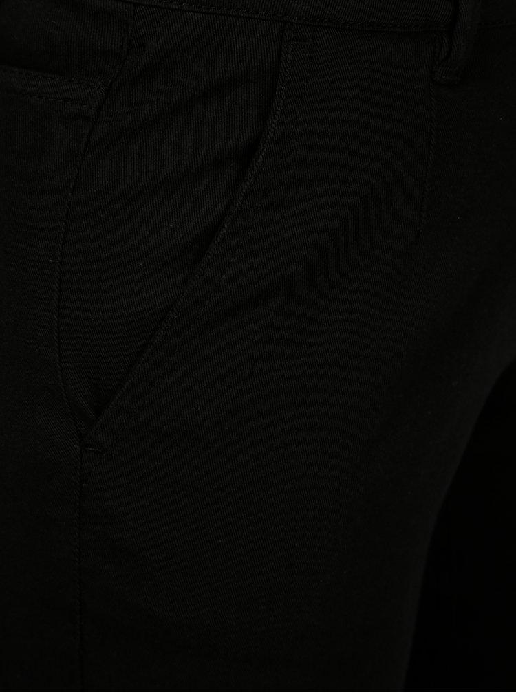Černé zkrácené skinny džíny s nízkým pasem SH Ventania