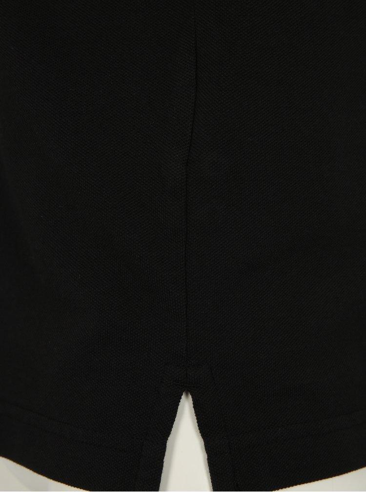 Čierna basic polokošeľa GANT