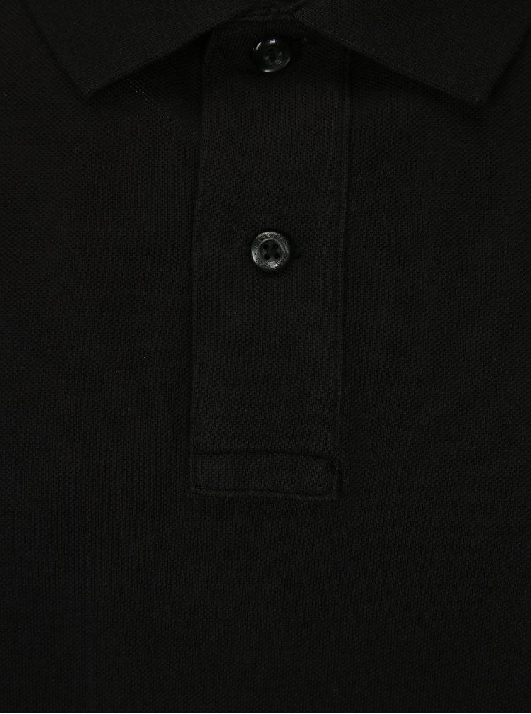 Černé slim fit polo tričko GANT