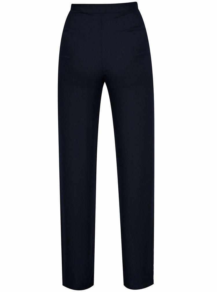 Tmavě modré volné kalhoty s vysokým pasem SH Virmond
