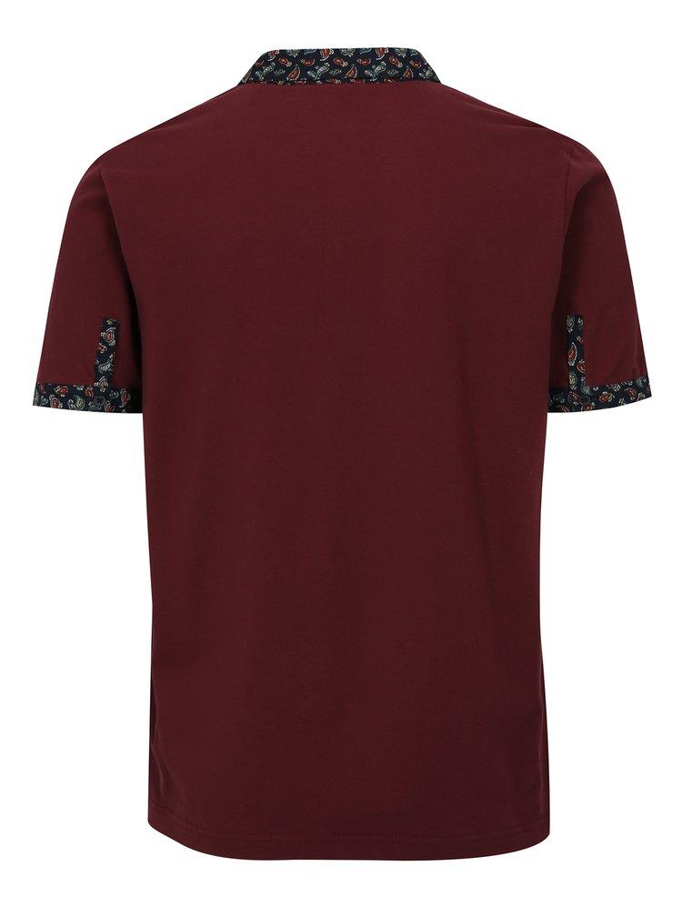 Vínové polo tričko Merc