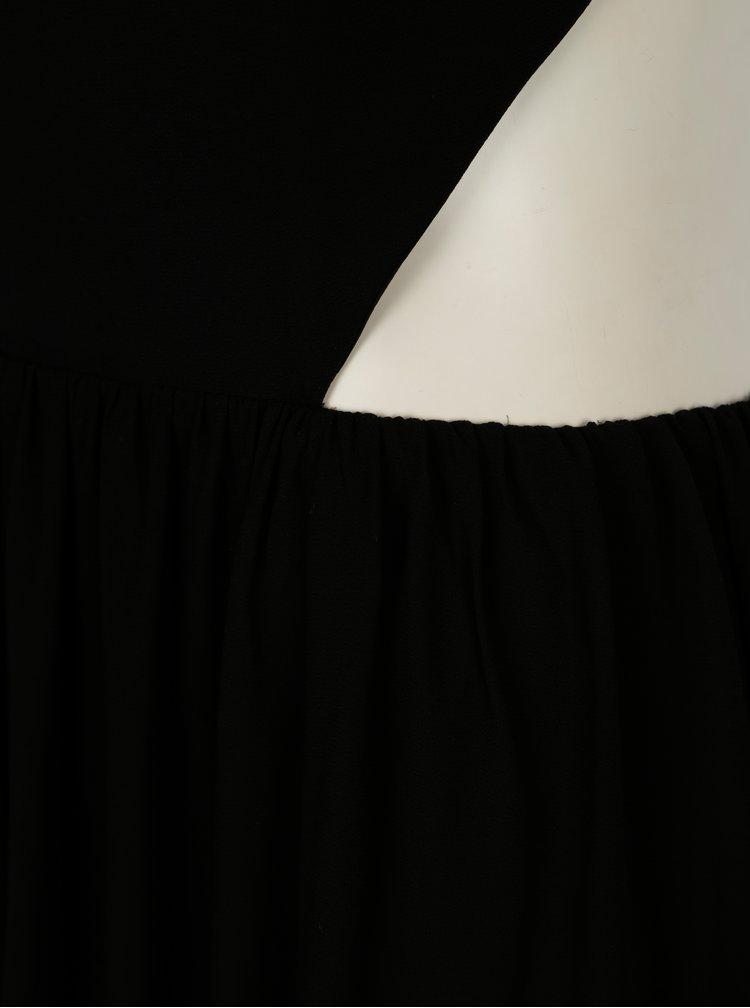 Černé maxišaty s průstřihy na zádech SH Pereirde