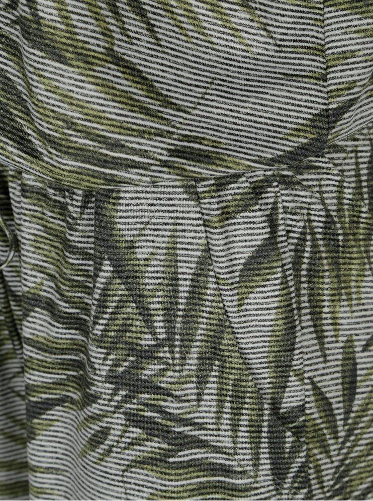 Zelený vzorovaný overal bez rukávů Yest