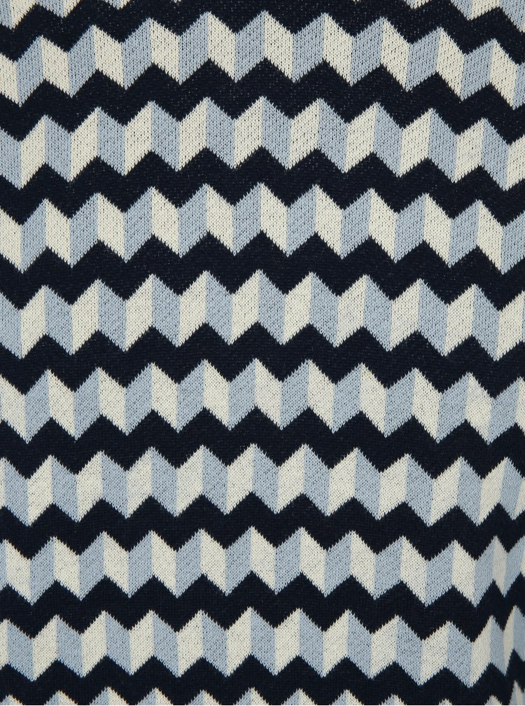 Modrý vzorovaný svetr Merc