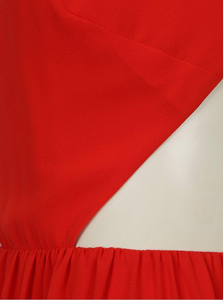 Červené maxišaty s průstřihy na zádech SH Pereirde
