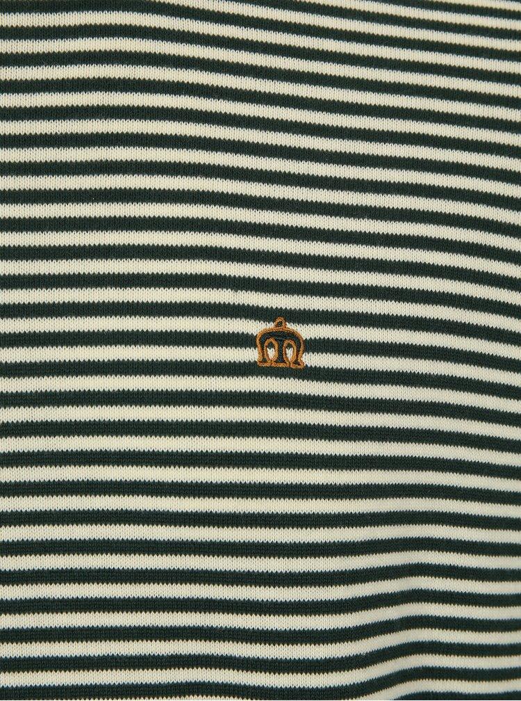 Zelený pruhovaný svetr Merc
