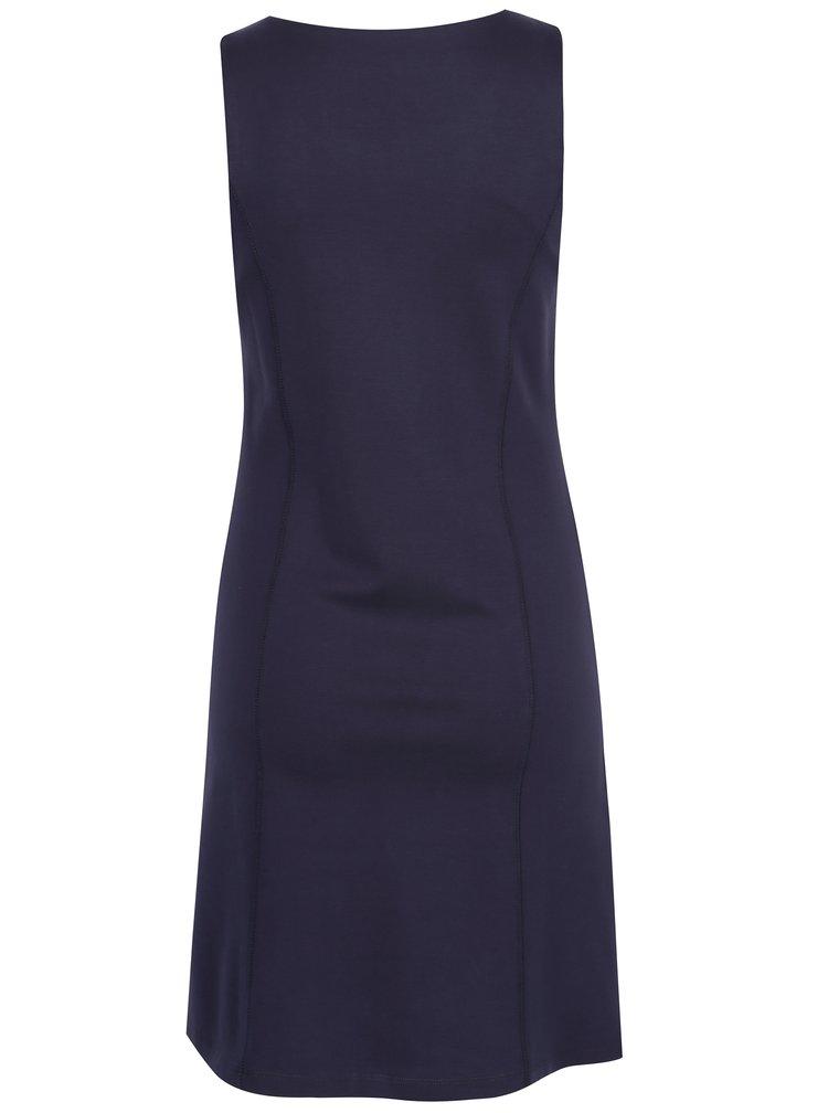 Tmavě modré šaty bez rukávu Yest