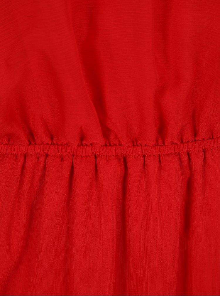 Červené maxišaty s rozparky SH Pereirde