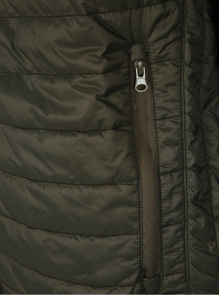Zelená pánská prošívaná bunda Geox