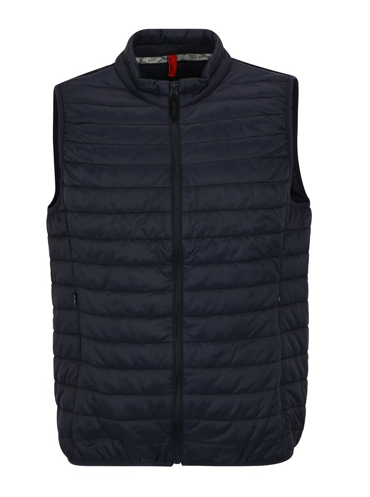 Tmavě modrá pánská prošívaná vesta Geox