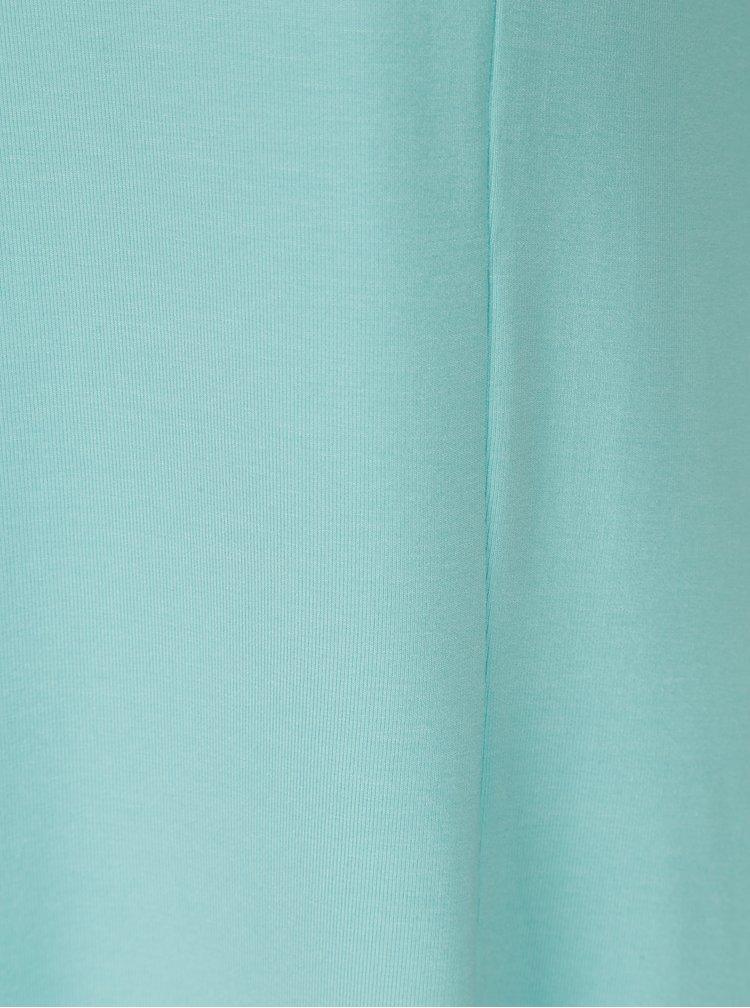 Tyrkysové šaty s véčkovým výstřihem Yest