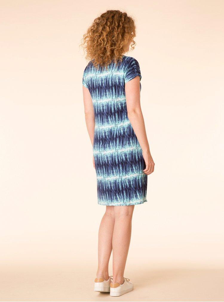 Tyrkysovo-modré vzorované šaty Yest