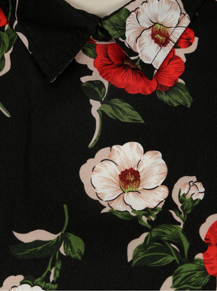Černá květovaná halenka SH Refente