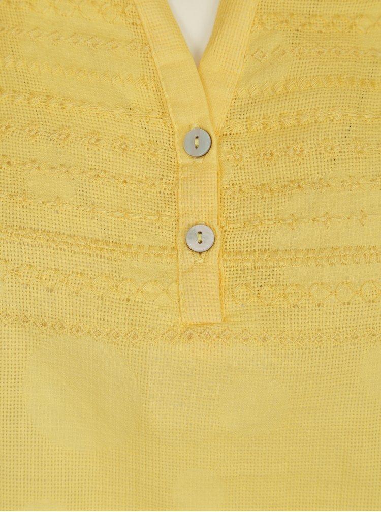 Žlutá halenka s výšivkou Yest