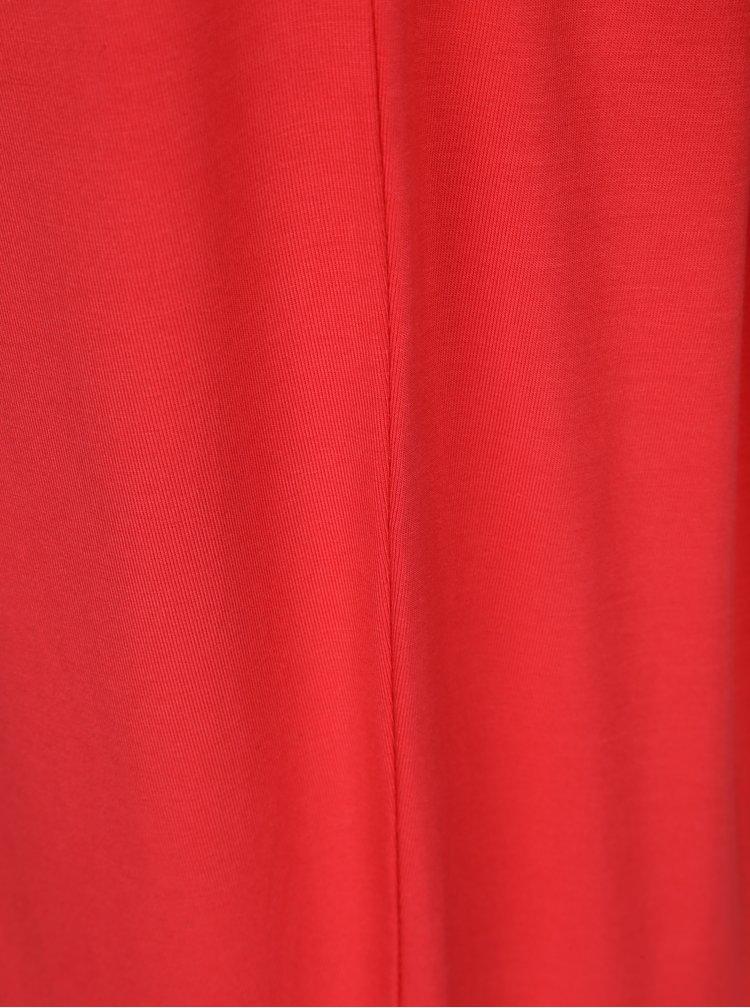 Červené volné basic tričko Yest