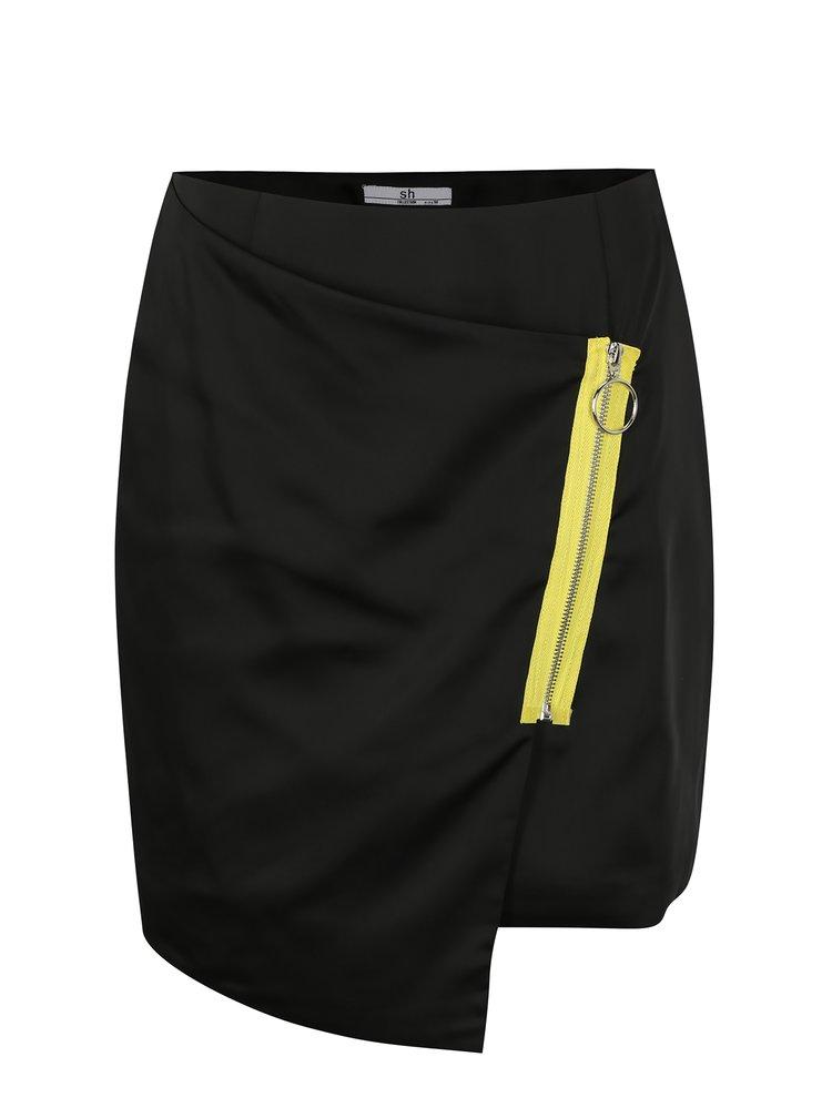 Černá asymetrická sukně SH Paranavai