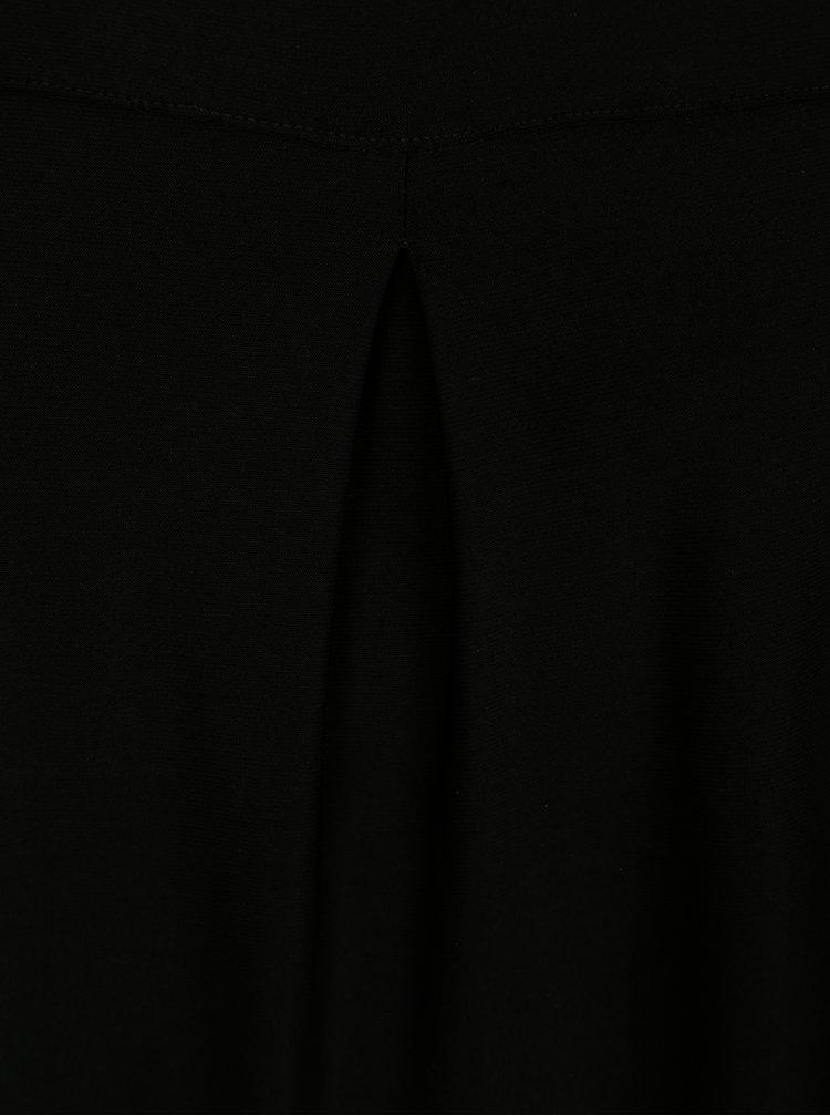 Top negru cu pliuri Yest